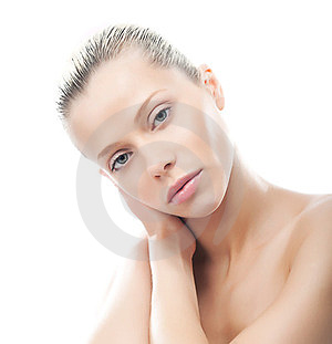 Bodycare - Sensual Woman With Soft Natural Makeup Stock Photography - Image: 23655262