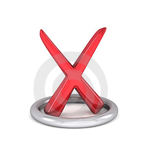 Red Cancel Check Mark Royalty Free Stock Photo - Image: 23656845