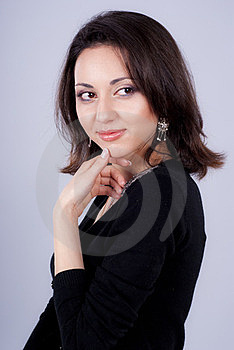 Enigmatic Look Of Girl Stock Photos - Image: 23671913