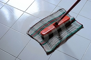 Cleaning Clooth And Scrubbing Brush Stock Photo - Image: 23676970