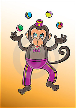 Monkey Circus Royalty Free Stock Image - Image: 23692656