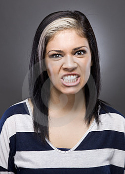 Caucasian Woman Looking Mad Royalty Free Stock Photography - Image: 23696597