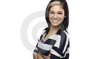 Caucasian Girl With Arms Crossed Royalty Free Stock Photo - Image: 23696765