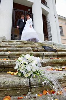 Wedding Bouquet No Stair Stock Photography - Image: 23698722