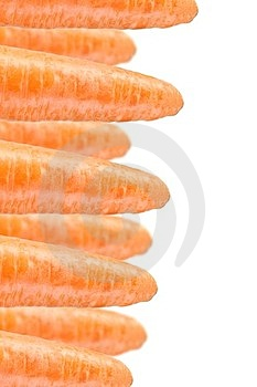 Carrots On White Background Royalty Free Stock Photos - Image: 23698958