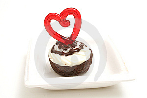 Heart Brownie On White Stock Photography - Image: 2373902