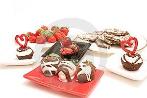 Desserts Upclose On White Stock Photo - Image: 2374770