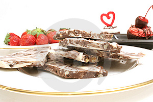 Chocolate Candy And Strawberry Royalty Free Stock Image - Image: 2374816