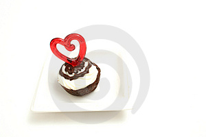 Mini Brownie Bite Heart Stock Photos - Image: 2374873