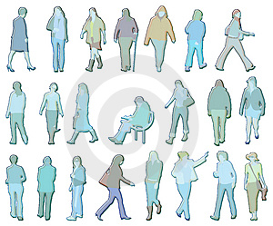 Women Illustrations Stock Images - Image: 2376024