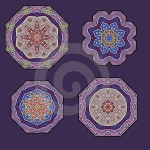 4 Ornaments Royalty Free Stock Photos - Image: 23701388