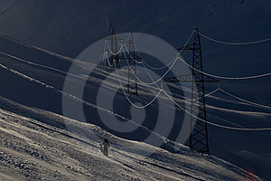 Power Supply Line Royalty Free Stock Images - Image: 23701619