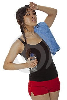 Young Asian Woman With A Ping-pong Racket Isolated On White Stock Photography - Image: 23706592