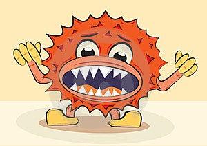 Cartoon Funny Angry Bacillus Stock Image - Image: 23715561