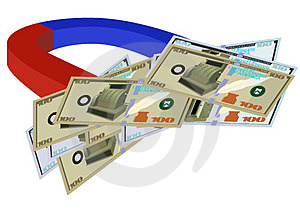 Magnet And Money Stock Image - Image: 23719381