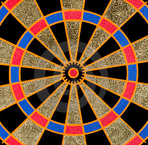 Texture Of The Dartboard Royalty Free Stock Image - Image: 23722926