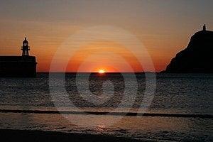 Sun Faling Into The Ocean Stock Photos - Image: 23729153