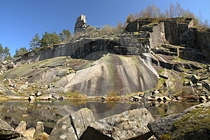Old Granite Quarry And Castle Ruin Royalty Free Stock Images - Image: 23729989