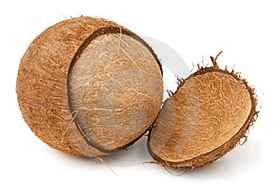Cracked Coconut Royalty Free Stock Photo - Image: 23731025