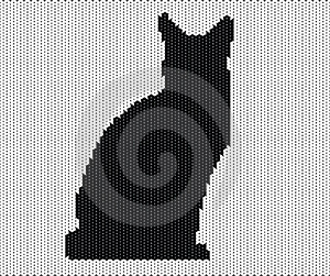 Silhouette Of Cat From Knitted Texture Royalty Free Stock Photos - Image: 23731838