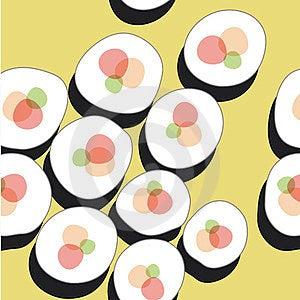 Sushi Pattern Stock Image - Image: 23732351