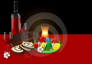 Easter Dinner, Cdr Vector Royalty Free Stock Image - Image: 23751396