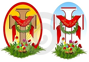 Set Of Two Easter Crosses Stock Images - Image: 23751454