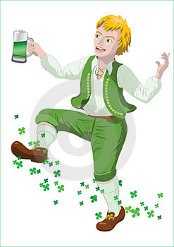 Saint Patrick With Beer Royalty Free Stock Photography - Image: 23768537