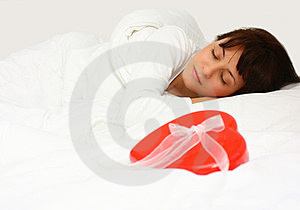 Woman With Gift Royalty Free Stock Photography - Image: 23769617