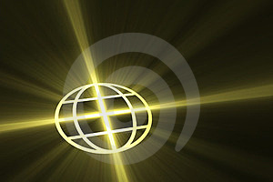 Global Symbol With Light Flare Royalty Free Stock Image - Image: 23772156