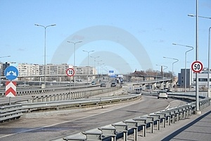Road Split  Speed  Stock Images - Image: 23773724