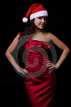 New Year Girl Royalty Free Stock Photos - Image: 23774718