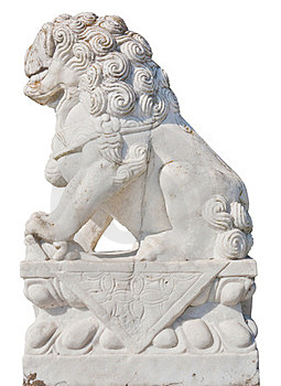 White Stone Lion Royalty Free Stock Photography - Image: 23777077