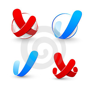 Yes And No Symbol Royalty Free Stock Photos - Image: 23778148