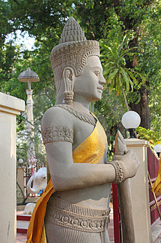 Religious Statue In Buddhist City Pillar Stock Photos - Image: 23779193