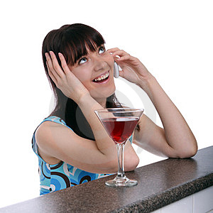 Woman Having A Drink Royalty Free Stock Photo - Image: 23789875