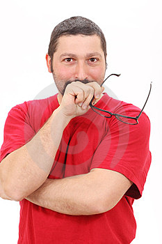 Portrait Of A Man Thinking Stock Images - Image: 23799384