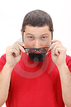 Man Wearing Glasses Stock Photography - Image: 23799412