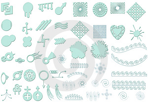 Contemporary Elements Royalty Free Stock Images - Image: 2383019