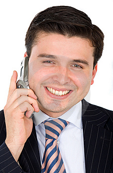 Business man on the phone Stock Photos