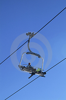 Sky Chair-lift Royalty Free Stock Images - Image: 2385279