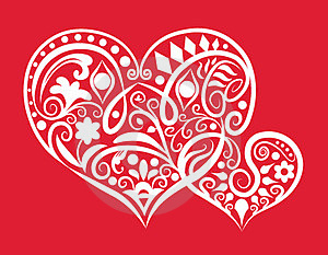 Two Hearts Ornament Royalty Free Stock Photo - Image: 23821195