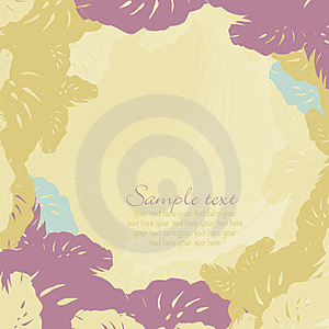 Frame Of Leaves Of Tropical Royalty Free Stock Image - Image: 23822356