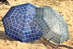Umbrella On The Beach Stock Photography - Image: 23822742