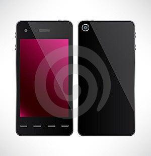 Smartphone De La Pantalla Táctil Del Vector. Fotos de archivo libres de regalías - Imagen: 23827428