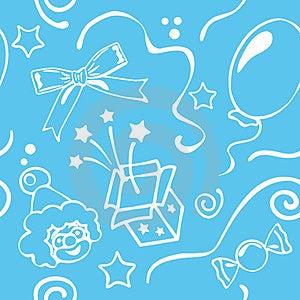 Boy Birthdays Seamless Background Stock Photos - Image: 23842573