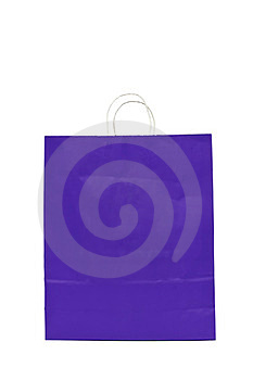Purple Gift Bag With Cord Handle Royalty Free Stock Image - Image: 23844186