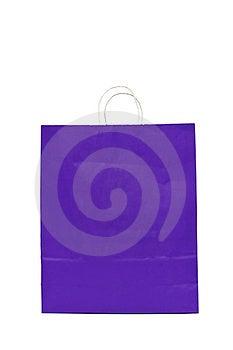 Purple Gift Bag With Cord Handle Royalty Free Stock Image - Image: 23844186