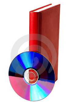 Book And Compact Disk Royalty Free Stock Photos - Image: 23844268