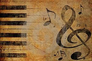 Grunge Musical Background Stock Photography - Image: 23847392